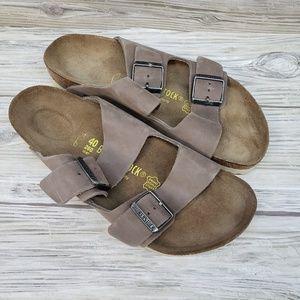 Birkenstock Arizona Tobacco Leather Sandals